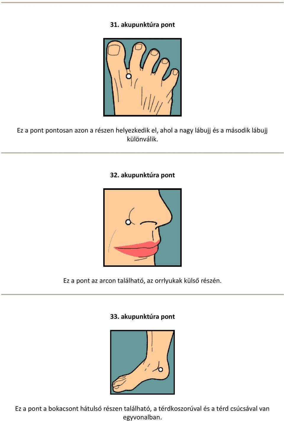 akupunktúrás pontok visszér