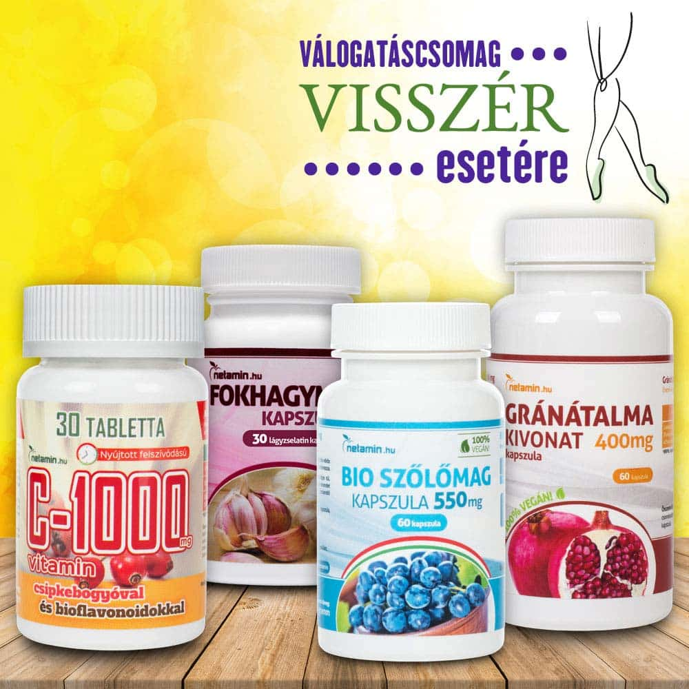 e-vitamin kapszula és visszér
