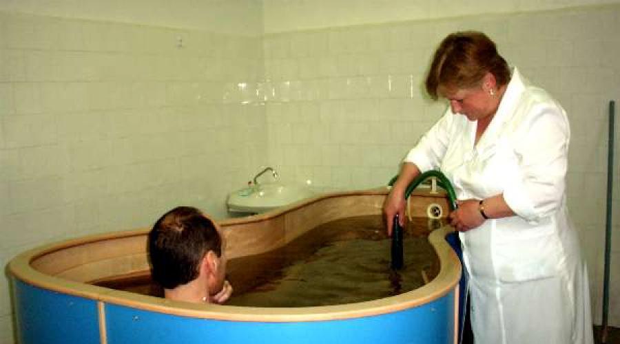 radonfürdők a visszér kezelésében)