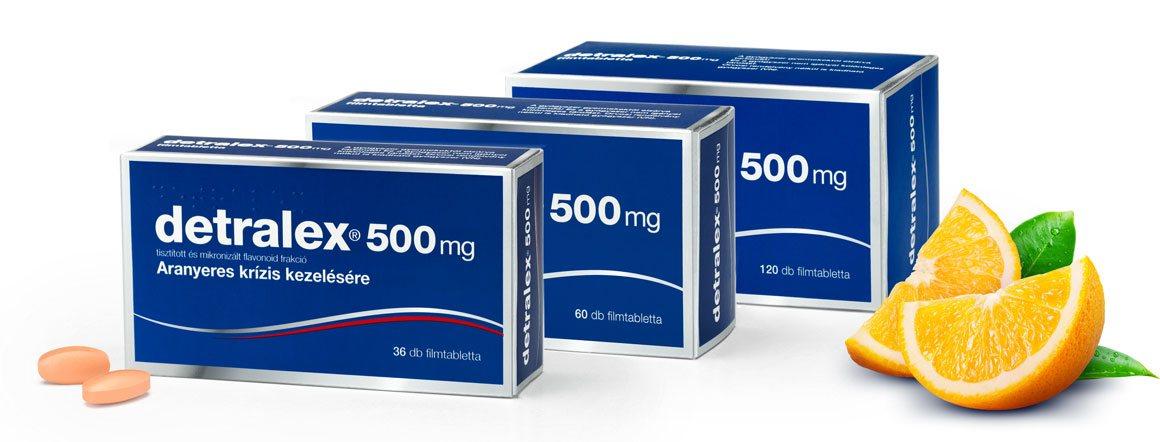 visszér elleni gyógyszer kapszulákban)